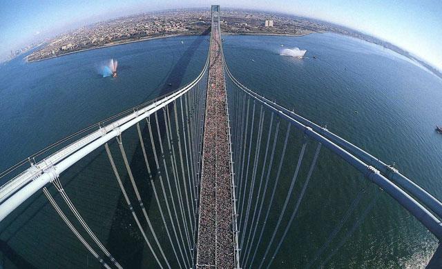 Vista aérea del la NYC Marathon