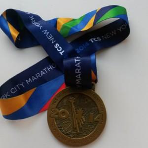 Mi medalla de la TCS NYC Marathon 2014