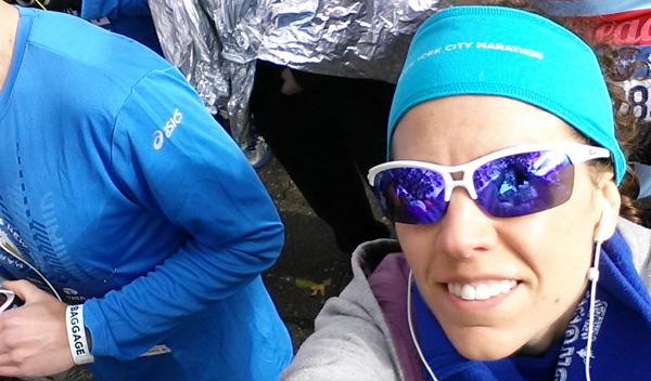 Minutos antes de la salida de la TCS NYC Marathon 2014